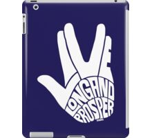 Live Long and Prosper White iPad Case/Skin