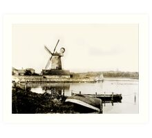 Historical Cley Windmill Art Print