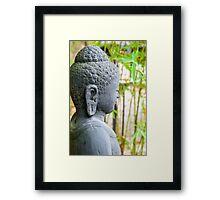 statue of buddha in zen garden Framed Print