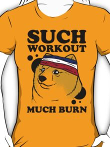 Such Workout, Much Burn - Doge The Dog Workout Shirt T-Shirt