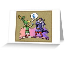 Legend of Zelda Vaati and Link T-Shirt Greeting Card