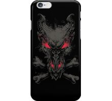 All the powers of Hell - GREY AND RED iPhone Case/Skin