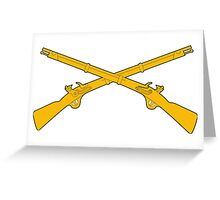 Infantry Crossed Rifles Greeting Card