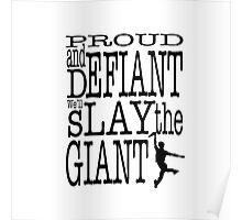 Newsies: Slay the Giant Poster