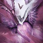 Flight Of The Heart - Mauve by Carol  Cavalaris