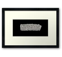 Safety Not Guaranteed Ad Merch Framed Print