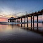 Manhattan Beach Sunset by Firesuite