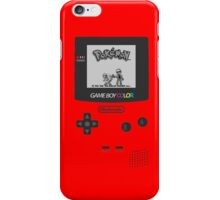 Pokemon Red on GameBoyColor by AronGilli iPhone Case/Skin