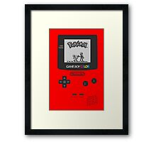 Pokemon Red on GameBoyColor by AronGilli Framed Print