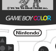 Pokemon Red on GameBoyColor by AronGilli Sticker