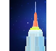 Empire State Building New York Illustration Photographic Print