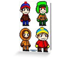 South Park Boys - Pixel Art Greeting Card