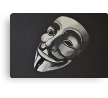 V is for Vendetta Canvas Print