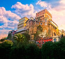 Golden Morning in Sorrento Italy by Mark Tisdale
