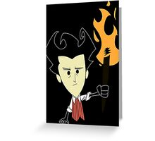 Don't Starve Wilson Greeting Card
