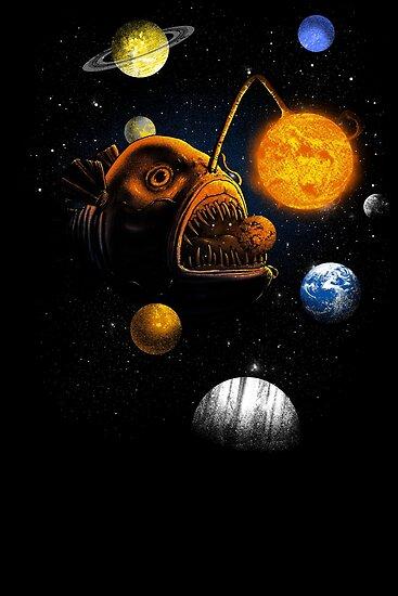 Cosmic Angler Fish by Jonah Block