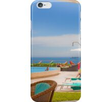 lunch view. cascais iPhone Case/Skin