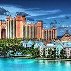Atlantis Towers and Harbor Village in Paradise Island, Nassau, The Bahamas by 242Digital