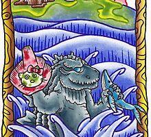 Godzilla 2014 by Leighmen