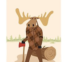 "Timothy McGilicutty the Lumberjack Moose - ""Up North"" series 3 of 3 by JEREMIAHJAMES"