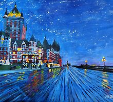 Fairmont Le Chateau Frontenac Quebec Canada By Night by artshop77