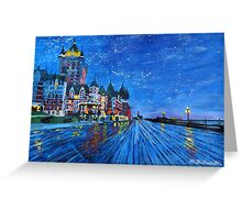 Fairmont Le Chateau Frontenac Quebec Canada By Night Greeting Card