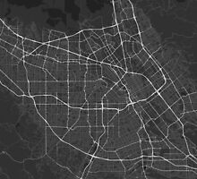 San Jose, USA Map. (White on black) by Graphical-Maps
