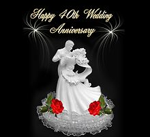 HAPPY 40TH WEDDING ANNIVERSARY PILLOW - TOTE BAG - & TABLET by ╰⊰✿ℒᵒᶹᵉ Bonita✿⊱╮ Lalonde✿⊱╮