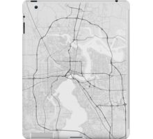 Jacksonville, USA Map. (Black on white) iPad Case/Skin