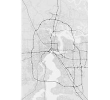 Jacksonville, USA Map. (Black on white) Photographic Print