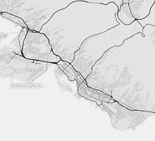 Honolulu, USA Map. (Black on white) by Graphical-Maps
