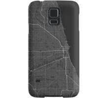 Chicago, USA Map. (White on black) Samsung Galaxy Case/Skin