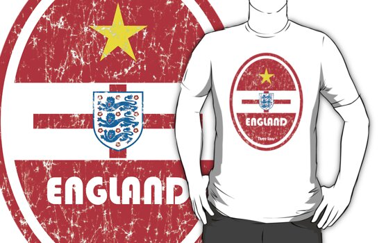 World Cup Football 6/8 - England (Distressed) by madeofthoughts