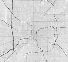 Indianapolis, USA Map. (Black on white) by Graphical-Maps