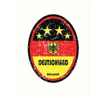 World Cup Football 3/8 - Deutschland (Distressed) Art Print