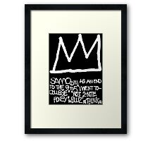 End to the 9 to 5 Framed Print