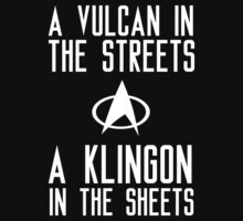 A vulcan in the streets a klingon in the sheets by datthomas