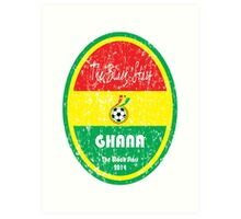 World Cup Football - Ghana Art Print