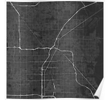 Las Vegas, USA Map. (White on black) Poster