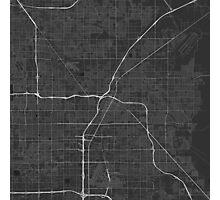 Las Vegas, USA Map. (White on black) Photographic Print