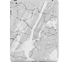New York, USA Map. (Black on white) iPad Case/Skin