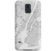 New York, USA Map. (Black on white) Samsung Galaxy Case/Skin