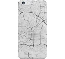 Raleigh, USA Map. (Black on white) iPhone Case/Skin
