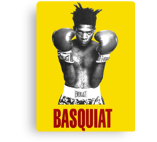 Jean Michel Basquiat Boxing Canvas Print
