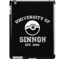 University of Sinnoh - White Font iPad Case/Skin