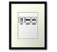 Eat Sleep Game Framed Print