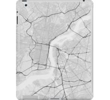 Philadelphia, USA Map. (Black on white) iPad Case/Skin
