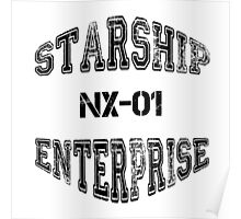 Star Trek - Enterprise NX-01 Text (Black) Poster
