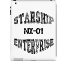 Star Trek - Enterprise NX-01 Text (Black) iPad Case/Skin