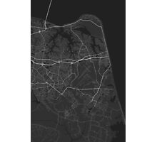 Virginia Beach, USA Map. (White on black) Photographic Print
